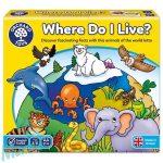 Hol laknak az állatok? (Where Do I Live?), ORCHARD TOYS OR069