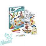 Bűvös fólia, kalózos kreatív szett - Sentosphere SA2084