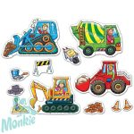 Munkagépek puzzle (Big Wheels), ORCHARD TOYS OR201