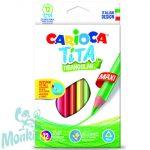 Carioca: Tita maxi háromszög színes ceruza 12db-os