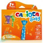 Carioca: Színes macis bébi filctoll 6db-os szett kimosható