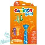 Carioca: Színes macis bébi filctoll 12db-os szett kimosható