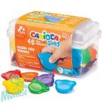 Maci formájú Baby Teddy zsírkréta 48 db-os, tárolóban - Carioca