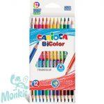 Színes ceruzakészlet kétvégû 12db-os 24 színnel - Carioca