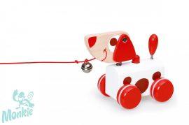 Scratch Húzható Jack kutyus hanggal és csengővel -PULL-ALONG TOY small DOG red Jack