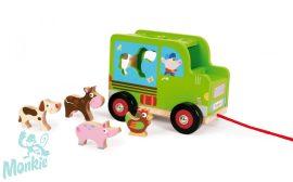 Készségfejlesztő teherautó Farm- SORTING TRUCK/FARM Scratch