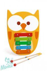 Játékhangszer Bagoly Xilofon- XYLOPHONE Owl Lou Scratch