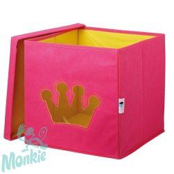Store !T Kocka Tároló pink/Korona  játéktároló