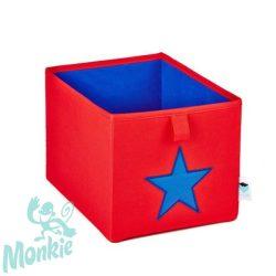 Store !T Kocka Tároló piros/kék csillag  játéktároló