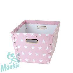 Store !T Terra pink csillagos tároló közepes  játéktároló
