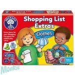 Bevásárlólista: Ruhaneműk kiegészítő (Shopping List Extras - Clothes), ORCHARD TOYS OR091