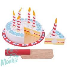 Bigjigs szeletelhető szülinapi torta fából - új design!
