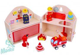 Bigjigs Tűzoltó állomás - mini játékkészlet