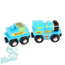 Bigjigs kék ABC mozdony