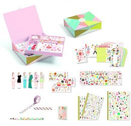 Djeco Lovely Paper Irodaszer készlet - Tinou box set