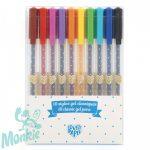 10 klasszikus színű gél toll készlet - 10 stylos gel classiques