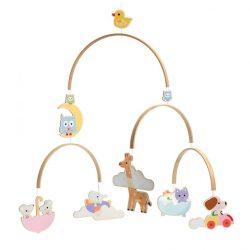 Djeco Szélmobil függődísz - Állatkölykök - Baby animals