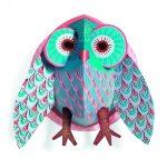 Djeco 3D-s faldekoráció - Szeretni való bagoly - Pretty Owl