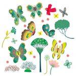Djeco Ablakmatrica - Kerti pillangók - Butterflies in the garden