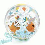 Felfújható csörgő zörgő labda - Strandlabda - Csörgő-zörgő habgolyókkal A Csörgő-zörgő egy nagy felfújható labda (átmérője 35 cm) vízi játék, vidám állatkák, madárkák témájára tele rajzolvBubbles ball