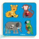 Djeco Family Jungle - Formaillesztő, formaberakó fa bébijáték