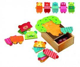 Djeco Képkirakó - Cukibocs - Tree cuddly puzzle
