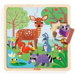 Djeco Képkirakó, puzzle - Erdő puzzle - Puzzlo Forest