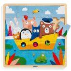 Djeco Puzzlo Boat - Hajócskás puzzle