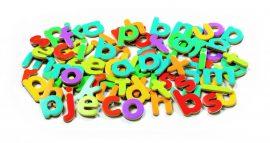 Djeco Mágneses betűkészlet  - Kisbetűk - 83 script letters