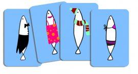 Djeco Kártyajáték - Hal halmozó - Sardines