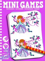 Djeco Mini játékok - Különbségek - Differences - Utazó játék lányoknak