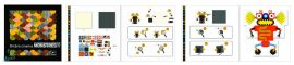 Djeco Optikai puzzle - Robotok - Kinoptik Robots - 60 db-os