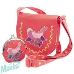 Djeco Embroidered bird bag and purse - Hímzett kismadaras táska pénztárcával