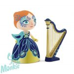 Djeco Arty Toys Knights - Elisa & Ze Harpe, Hercegnő,6771