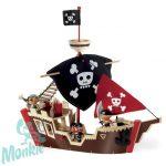 Djeco Arty Toys Kalózhajó - Ze pirat boat
