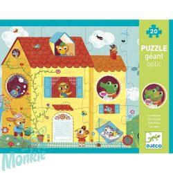 Djeco Óriás puzzle - Optikus otthon - Optic puzzle House