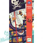 Djeco The pirate ship - Óriás puzzle - Kalózhajó