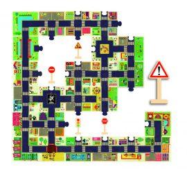 Djeco Óriás puzzle - A város - The city