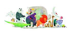 Djeco Óriás puzzle - Állati parádé - Animal Parade