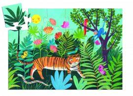 Djeco Formadobozos puzzle - A tigris sétája - The tiger's walk