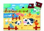 Djeco Formadobozos puzzle - Bocik és tehenek - The cows on the farm