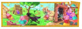 Djeco Formadobozos puzzle - A 3 kismalac - The 3 little pigs