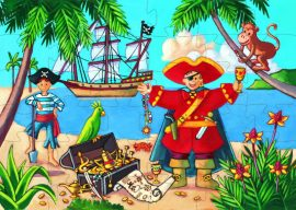 Djeco Formadobozos puzzle - Kalózok kincse - The pirate and his treasure