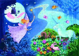 Djeco Formadobozos puzzle - Tündér és az egyszarvú - The fairy and the unicorn