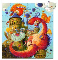 Djeco Formadobozos puzzle - Lovag és a sárkány - Vaillant and the dragon