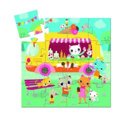 Djeco Mini puzzle - Fagyis kocsi - Ice cream truck