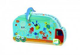 Djeco Mini puzzle - Mozgó akvárium - The aquarium
