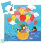 Djeco The hot air balloon - Puzzle Hőlégballon