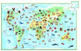Djeco World's animals + booklet - 100 pcs * - A Föld állatai megfigyelő puzzle