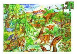 Djeco Dinosaurs + booklet - 100 pcs  - Megfigyelő puzzle - Dinoszauroszok